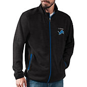 G-III Men's Detroit Lions High Jump Black Full-Zip Jacket