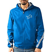 G-III Men's Detroit Lions Endzone Blue Full-Zip Jacket