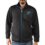 G-III Men's Detroit Lions Routine Black Full-Zip Jacket