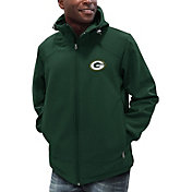 G-III Men's Green Bay Packers First Down Green Full-Zip Jacket