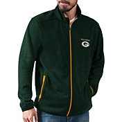G-III Men's Green Bay Packers High Jump Green Full-Zip Jacket