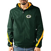 G-III Men's Green Bay Packers Endzone Green Full-Zip Jacket