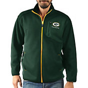 G-III Men's Green Bay Packers Routine Green Full-Zip Jacket
