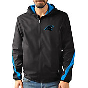 G-III Men's Carolina Panthers Endzone Black Full-Zip Jacket