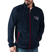 G-III Men's New England Patriots High Jump Navy Full-Zip Jacket