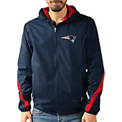 G-III Men's New England Patriots Endzone Navy Full-Zip Jacket