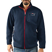 G-III Men's New England Patriots Routine Navy Full-Zip Jacket