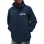 G-III Men's Seattle Seahawks First Down Navy Full-Zip Jacket