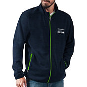 G-III Men's Seattle Seahawks High Jump Navy Full-Zip Jacket