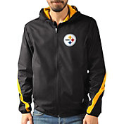 G-III Men's Pittsburgh Steelers Endzone Black Full-Zip Jacket