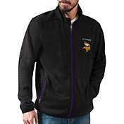 G-III Men's Minnesota Vikings High Jump Black Full-Zip Jacket