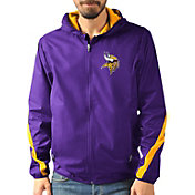 G-III Men's Minnesota Vikings Endzone Purple Full-Zip Jacket