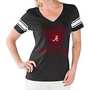 G-III For Her Women's Alabama Crimson Tide First Pick Black V-Neck T-Shirt