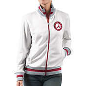 G-III For Her Women's Alabama Crimson Tide Field Goal White Track Jacket