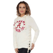 Touch by Alyssa Milano Women's Alabama Crimson Tide Weekend Raglan White Pullover Hoodie