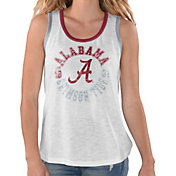 G-III For Her Women's Alabama Crimson Tide Reverse Standing White Tank Top