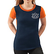 G-III For Her Women's Auburn Tigers Blue Yardline V-Neck T-Shirt