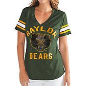 G-III For Her Women's Baylor Bears Green Wildcard V-Neck T-Shirt