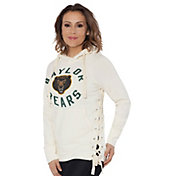 Touch by Alyssa Milano Women's Baylor Bears Weekend Raglan White Pullover Hoodie