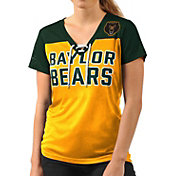 G-III For Her Women's Baylor Bears Gold Shake Down V-Neck Top