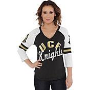 Touch by Alyssa Milano Women's UCF Knights Reflex Black Raglan 3/4 Sleeve Shirt