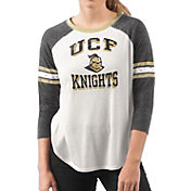 G-III For Her Women's UCF Knights White/Black Backfield Raglan 3/4 Sleeve Shirt