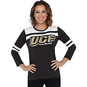 Touch by Alyssa Milano Women's UCF Knights White/Black Offside 3/4 Sleeve Shirt