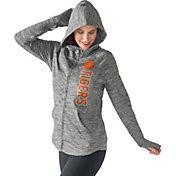 G-III For Her Women's Clemson Tigers Grey Defender Full-Zip Hoodie
