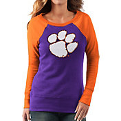 G-III For Her Women's Clemson Tigers Regalia/Orange Top Ranking Tunic