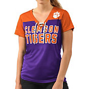 G-III For Her Women's Clemson Tigers Regalia Shake Down V-Neck Top