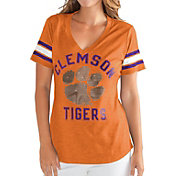 G-III For Her Women's Clemson Tigers Orange Wildcard V-Neck T-Shirt