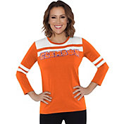 Touch by Alyssa Milano Women's Clemson Tigers White/Orange Offside 3/4 Sleeve Shirt