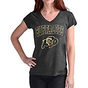 Touch by Alyssa Milano Women's Colorado Buffaloes Alumni Black V-Neck T-Shirt