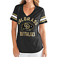 G-III For Her Women's Colorado Buffaloes Wildcard Black V-Neck T-Shirt