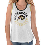 G-III For Her Women's Colorado Buffaloes Reverse Standing White Tank Top