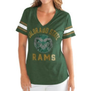 G-III For Her Women's Colorado State Rams Green Wildcard V-Neck T-Shirt
