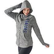 G-III For Her Women's Florida Gators Grey Defender Full-Zip Hoodie