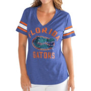 G-III For Her Women's Florida Gators Blue Wildcard V-Neck T-Shirt