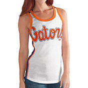G-III For Her Women's Florida Gators White/Blue Touchback Tank Top