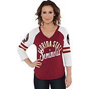 Touch by Alyssa Milano Women's Florida State Seminoles Garnet Reflex Raglan 3/4 Sleeve Shirt