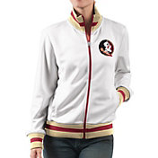 G-III For Her Women's Florida State Seminoles Field Goal White Track Jacket