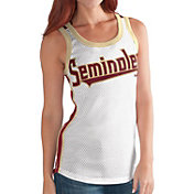 G-III For Her Women's Florida State Seminoles White/Garnet Touchback Tank Top