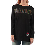 G-III For Her Women's Georgia Bulldogs Superstar Black Crewneck Top