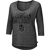 Touch by Alyssa Milano Women's Georgia Bulldogs Grey Fair Catch 3/4 Sleeve Shirt