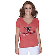 Touch by Alyssa Milano Women's Georgia Bulldogs Red V-Neck T-Shirt