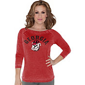 Touch by Alyssa Milano Women's Georgia Bulldogs Red 3/4 Sleeve Shirt