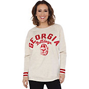 Touch by Alyssa Milano Women's Georgia Bulldogs Backfield White Top