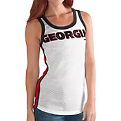 G-III For Her Women's Georgia Bulldogs White/Red Touchback Tank Top