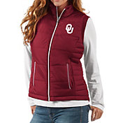 G-III For Her Women's Oklahoma Sooners Crimson First Down Polyfill Vest