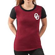 G-III For Her Women's Oklahoma Sooners Crimson Yardline V-Neck T-Shirt